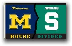 The latest Michigan State merchandise is in stock at FansEdge for every Spartans fan. Enjoy fast shipping and easy returns on all purchases of Michigan State University gear, MSU apparel, and memorabilia to flex your collegiate spirit at FansEdge. Michigan Wolverines, Michigan Vs Michigan State, Colleges In Michigan, Michigan State University, House Divided Flags, College Football Teams, Sports Teams, Go Blue, Stores