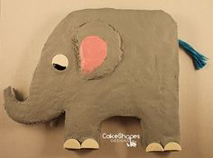 Elephant Cake Pattern - Like an elephant, no one will forget this cute cake!