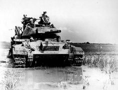 M24 (Chaffee) American light tank used by French in Vietnam.