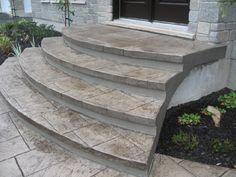 escaliers en bton estamp - Cour En Beton Color