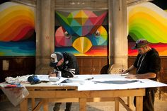 Okuda San Miguel(aka Okudart) has transformed a historic church in Llanera, Spain into a colorful haven for skateboarders. Created in collaboration with La Iglesia Skate park and Red Bull, the artist covered the interior sanctuary in vibrant colors and patterns that match the intensity of the sport. The project is titled Kaos Temple, and construction on it started and finished earlier this month. Miguel began by painting around the windows and over the vaulted ceilings, leaving no area…