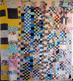 Vintage quilt Ebay find, 2008, seen at Paper Dolls For Boys