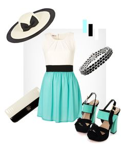 """Black, White & Turquoise"" by lookbookunlimited on Polyvoren...LOVE"