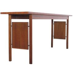 Erwin Lambet Mid-Century Walnut Console Table on Chairish.com