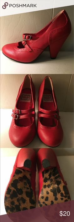 Bettie Page Shoes by Ellie Vintage Retro Barely worn, in great condition!! Bettie Page by Ellie Shoes Heels