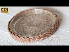 (21) Поднос с косой - YouTube Baskets On Wall, Wicker Baskets, Diy And Crafts, Arts And Crafts, Newspaper Basket, Sewing Baskets, Flower Girl Basket, Doll Tutorial, Boho Diy