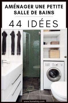 """44 idées pour aménager une petite salle de bain. Découvrez des astuces, des conseils, des meubles et des accessoires """"gain de place"""" pour optimiser l'espace d'une petite salle de bain."""