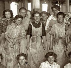 mill girls cotton mill 1908