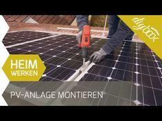 Photovoltaik selber montieren - Die Aufdachmontage in Eigenregie @ diybook.at Montage, Diy, Photovoltaic Systems, Solar Energy, Bricolage, Do It Yourself, Homemade, Diys, Crafting