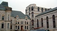 Mansfield Reformatory - built in 1886. What started out to rehabilitate first time offenders turned into hellish experience for prisoners and even some of the staff. A history of civil rights abuses led to the closure of the prison. It is said that the spirits of both prisoners and staff still wander the cells and corridors.
