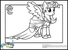 My Little Pony Coloring Pages  Kids Crafts  Pinterest  Coloring