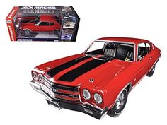 1970 Chevrolet Chevelle SS 454 Red Jack Reacher 1/18 by Autoworld AWSS109 - Diecast Model Cars