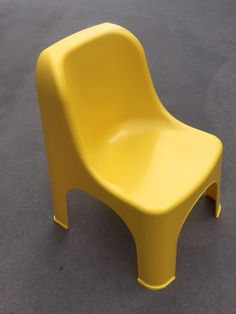 Retro Yellow Child Chairs Suitable for ages Easily Stackable for transporting Kids Party Tables, Adjustable Height Table, Party Hire, Colorful Chairs, Little People, Table And Chairs, Retro, Yellow, Children