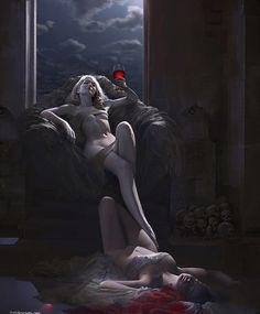 Vampire Duchess by Steven Stahlburg. That's going to be a pain to clean up in the morn- uhh... evening.