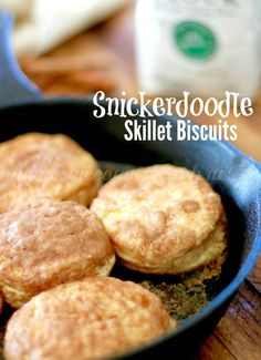 Snickerdoodle Biscuits! What?! I think this is my new favorite sweet biscuit! It's got a sweet, slightly crusty exterior and the softest, t...