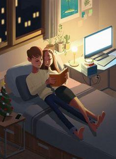 New Digital Art Fantasy Couple Ideas Love Cartoon Couple, Cute Love Cartoons, Cute Couple Art, Anime Love Couple, Cute Anime Couples, Paar Illustration, Couple Illustration, Couple Drawings, Love Drawings
