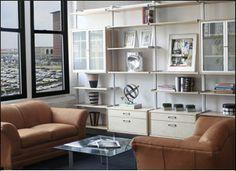 Rakks aluminum shelves on C standards  and Ikea Effective  cabinets