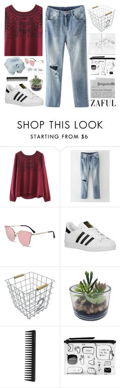 """#537 Beautiful day"" by mia5056 ❤ liked on Polyvore featuring Maison Margiela, adidas Originals, Circo, Threshold, GHD and Monki"