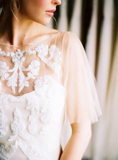 Lovely details on this bridal gown - Nicole Berrett Photography