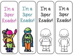 4 FREE SUPER READER BOOKMARKS - TeachersPayTeachers.com