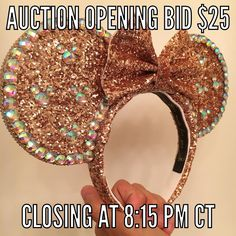 PLEASE read all provided information if you are participating in today's auction.  1. All ears will open with a $25 bid. I.e. The first person must bid $25 or more.  2. Bids must be made in $1 increments. Example: $25 26 27 - NOT $25.50 etc... Serious participants only please- if you have no intention of purchasing the item please DO NOT bid. False bidders will be blocked from all future sales/auctions.  3. The HIGHEST bid will win the item- this is sometimes not always the last comment…