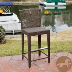 Give your feet a rest with this wicker bar stool from Christopher Knight Home. This modern stool features tightly woven PE wicker and a neutral brown color to match outdoor decor. Its sturdy iron frame is sure to grant you years of service. Outdoor Furniture Sets, Outdoor Bar, Patio Rocking Chairs, Stool, Wicker Bar Stools, Patio Furniture Deals, Outdoor Living Areas, Patio Bar Stools, Outdoor Wicker