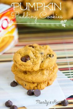 Mandy's Recipe Box: Pumpkin Pudding Cookies