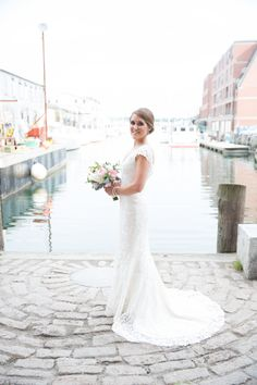 Harbor bridal photos @kivalo photography