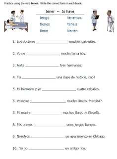 TENER & expressions worksheet packet -- 24 pages only $1.95 on TpT: