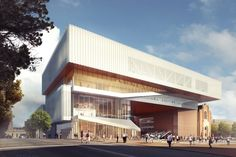 Architecture firms OMA and Hassell have revealed designs for a major new museum in Perth, Australia, that will slot amongst a series of heritage buildings Industrial Home Design, Industrial House, Modern Industrial, Industrial Bathroom, Oma Architecture, Architecture Visualization, Australia Occidental, Archi Design, New Museum