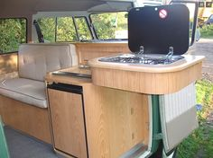 The Camper Shak - Hand Crafted VW Camper Interiors Volkswagen Transporter, Vw T1, Volkswagen Beetles, Volkswagen Golf, Vw Camper, Campers, Astuces Camping-car, Camper Van Kitchen, Combi Split