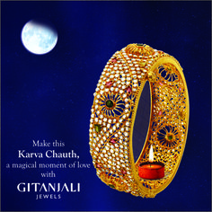 #Gitanjali #Jewels #Facebook Page for #Karvachauth.#Gold #Bangle #Wedding #Special