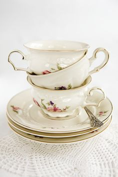 sweet, pretty tea cups