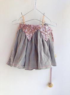 거즈 skirt gray