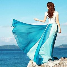 Summer Bohemia Chiffon Long Skirt