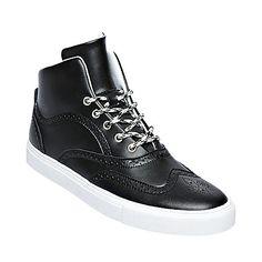 quality design 6ff19 3d140 BOUNCEE BLACK mens athletic oxford hightop - Steve Madden Steve Madden  Boots, Modern Man,