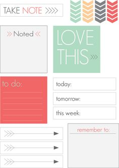 Free Take Note a Printable from Spark & Chemistry