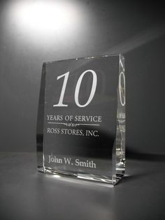 We produce fine quality engraved crystal service awards, personalized crystal service awards, custom recognition awards and trophies at lowest price Recognition Awards, Employee Recognition, Crystal Gifts, Clear Crystal, Crystal Awards, How To Motivate Employees, Service Awards, Laser Engraving, How To Memorize Things