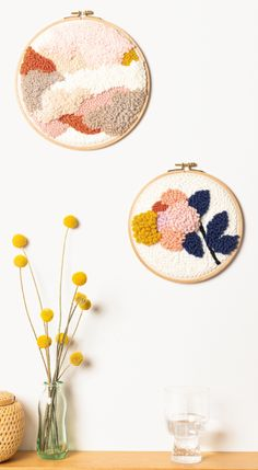 DIY: Punch Needle / step by step – Handstickerei Punch Needle Set, Punch Needle Patterns, Embroidery Hoop Art, Embroidery Patterns, Print Patterns, Diy Pompon, Diy Broderie, Rico Design, Penny Rugs