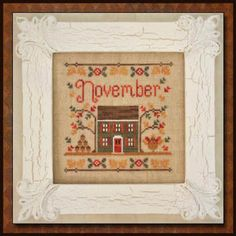 Cottage Of The Month November - Cross Stitch Pattern, Country Cottage Needleworks