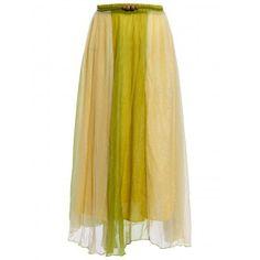 Bohemian Style Chiffon Slimming Color Block Women's Skirt