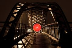 Striking Light Painting Photography by Nicolas Rivals Light Painting Photography, French Photographers, Grid Design, Behance, Design Inspiration, Street, Bridge, Chart, Night