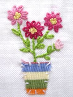 Hand embroidery Greeting Care by Peacockbox on DeviantArt