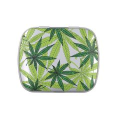 Marijuana Leaves Jelly Belly Tins Nine point Marijuana leaves. Cannabis is recognized legally in several US states, mostly for medical purposes, but some are recognizing recreational use as well. Pot smokers and medical patients will enjoy these products! Great for holding a little stash!