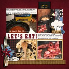 Page Ideas for Scrapbooking Your Food   Ronnie Crowley   Get It Scrapped