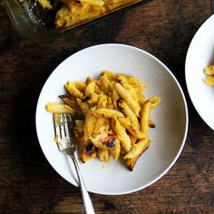 Baked Penne with Butternut-Sage Sauce Recipe - A riff on Al Forno's well-known and widely adored baked pasta. Autumn Pasta Recipes, Dinner Recipes, Fall Recipes, Dinner Ideas, Vegetarian Recipes, Cooking Recipes, Food52 Recipes, Cooking Food, Baked Penne