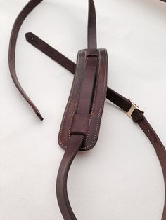 Vintage style genuine leather guitar strap Dark by McPhersonGoods, $60.00
