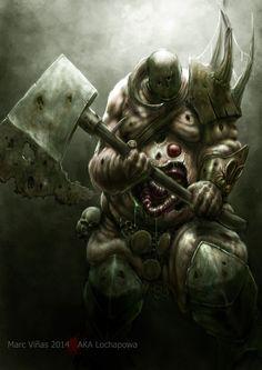 "thetygre: "" Nurgle Chaos Lord by LochaPowa """