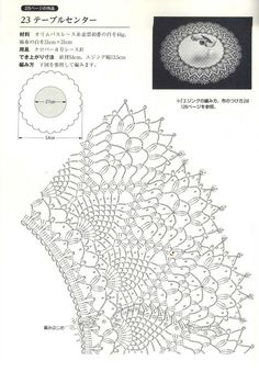 crochet doily lace free pattern diagram 2