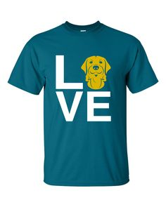 This Golden Retriever Love tee is an A Dog's Love™ exclusive for golden retriever lovers who spell true love with a golden! Now you can show off your golden pride with our popular Golden Retriever Lov